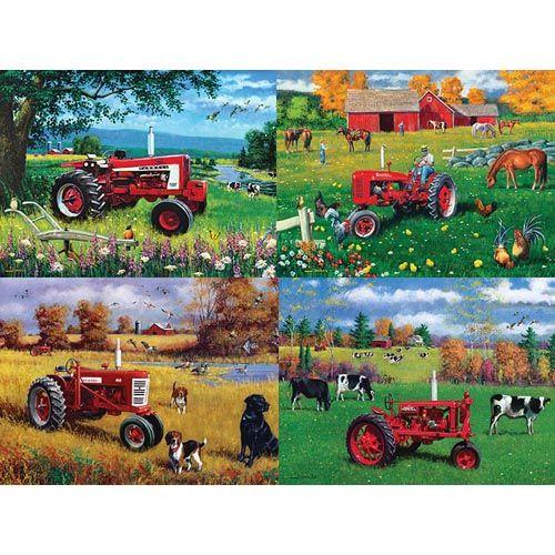Farmall 4 Pack Jigsaw Puzzles 500 Pcs Each Herrschners Farm