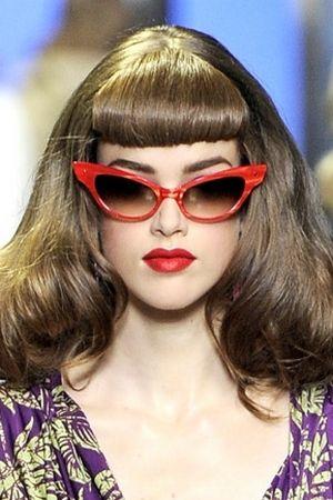 35b2eb44e7c retro barbie    red cat eye sunglasses christian dior spring 2011 ...