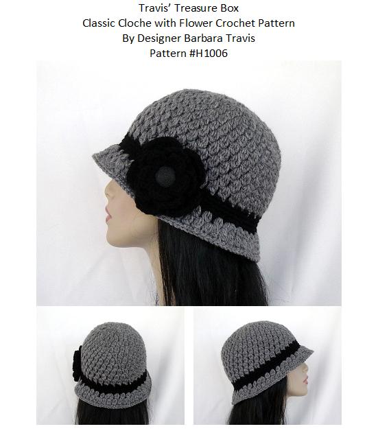 Classic Cloche with Flower | Crochet hats | Pinterest | Gorros ...