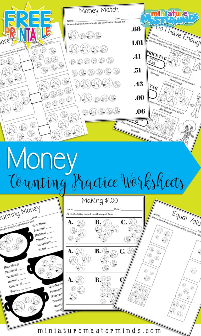 Predownload: Money Matters 6 Free Printable Money Counting Worksheets Money Worksheets Teaching Money Counting Money Worksheets [ 1280 x 768 Pixel ]