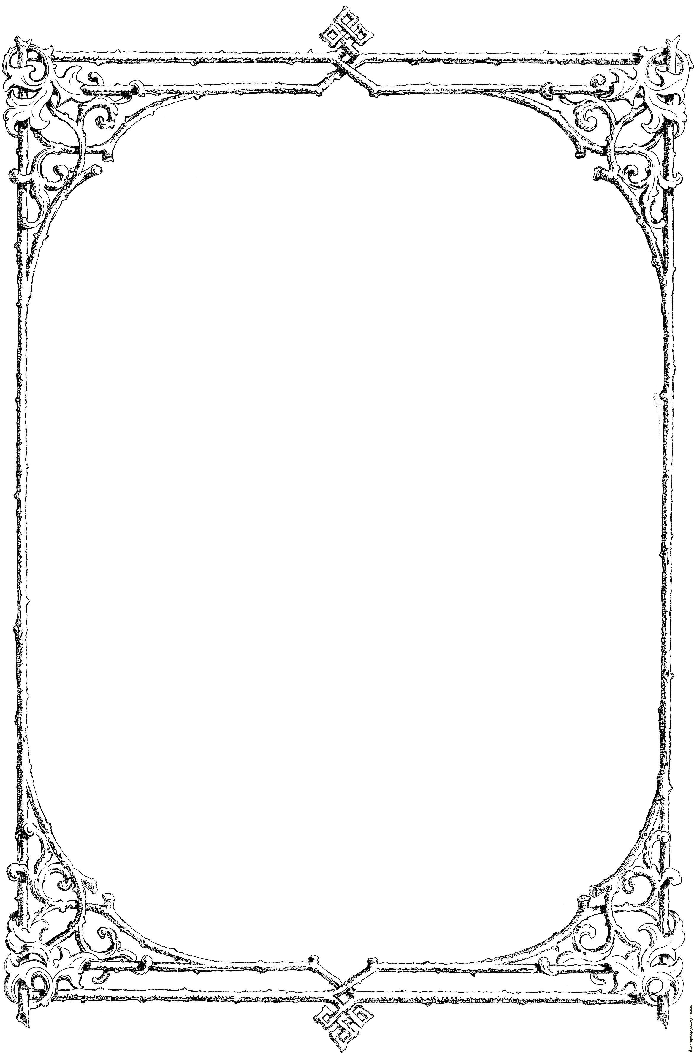 Free Black And White Borders Religious Free Clip Art Victorian