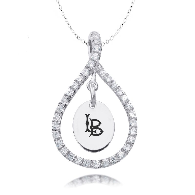 Texas Tech Jewelry Diamontrigue Jewelry: Cal State Long Beach Figure 8 Necklace