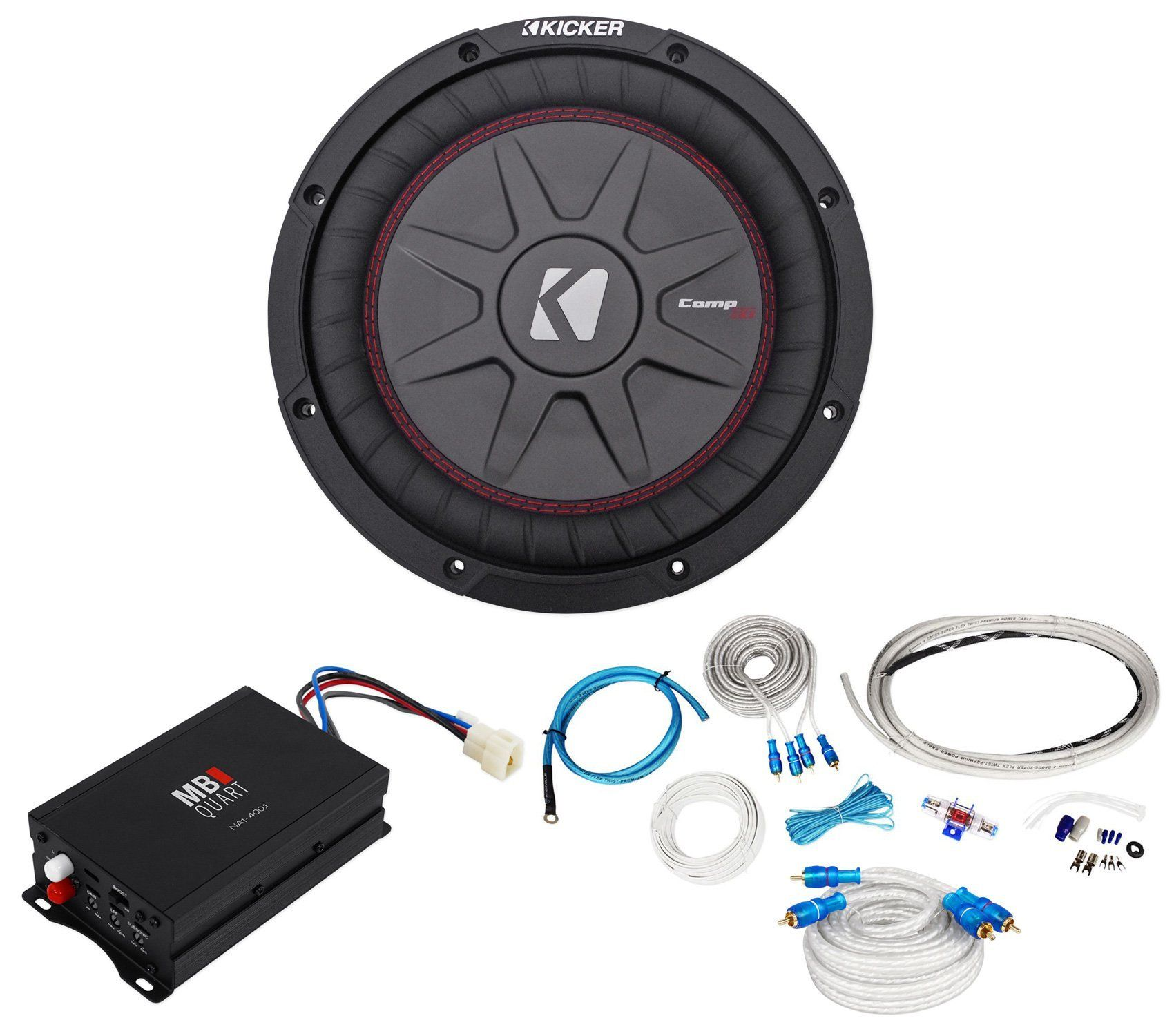 Package: MB QUART NA1-400.1 400W RMS Marine and ATV Compact Mono ...