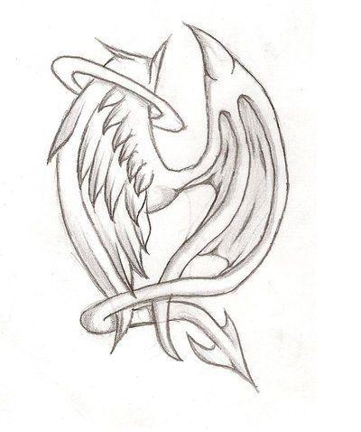Angelic Deamon Wings par XxBlood-PuppetxX – #DrawingsPencil Compass #Draw …