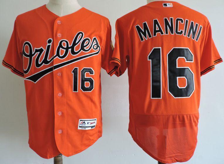 detailed look f4268 306fa Men Baltimore Orioles 16 Trey Mancini Elite Orange MLB ...