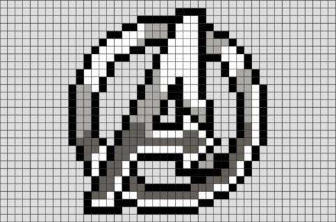 Avengers Logo Pixel Art | Pixel art | Pixel art grid, Pixel art