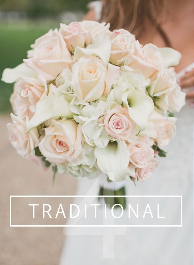 DIY Traditional Wedding Bouquet // Roses, Calla Lilies & Hydrangeas