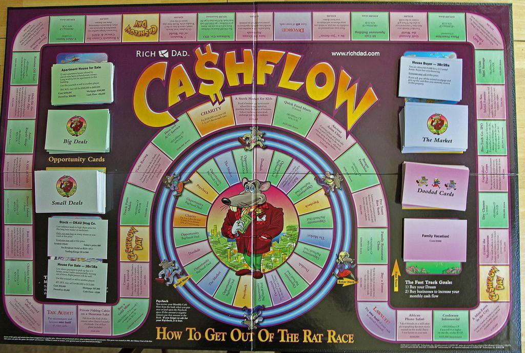 cashflow board Money games for kids, Money games, Flow game