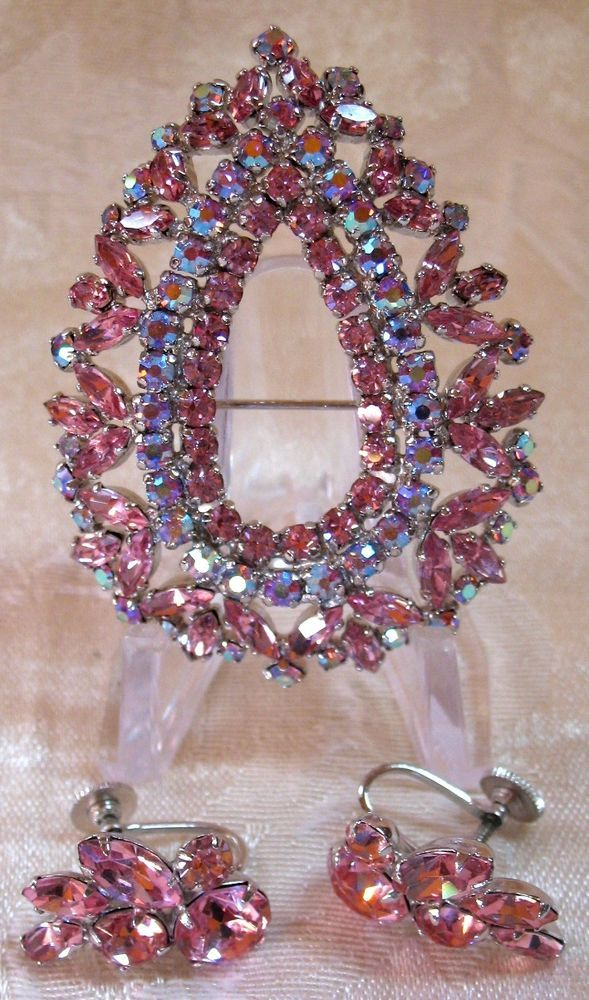 Sherman Jewels of Elegance - Signed Sherman Brooch and Signed Sherman Earrings