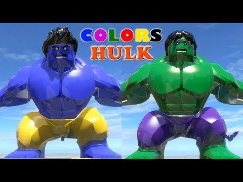 LEGO Hulk Transformation Blue Hulk vs Green Hulk LEGO ...