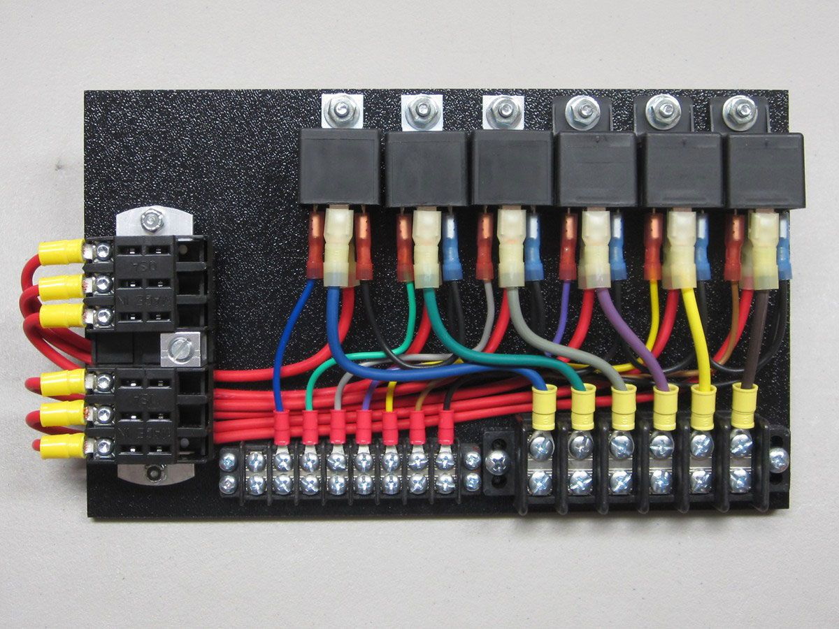 small resolution of 6 relay panel with push on connectors