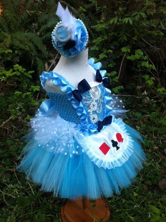 Alice-Kostüm/Wunderland-Themen Partei/blau Tutu-Kleid | Tamina 2 ...