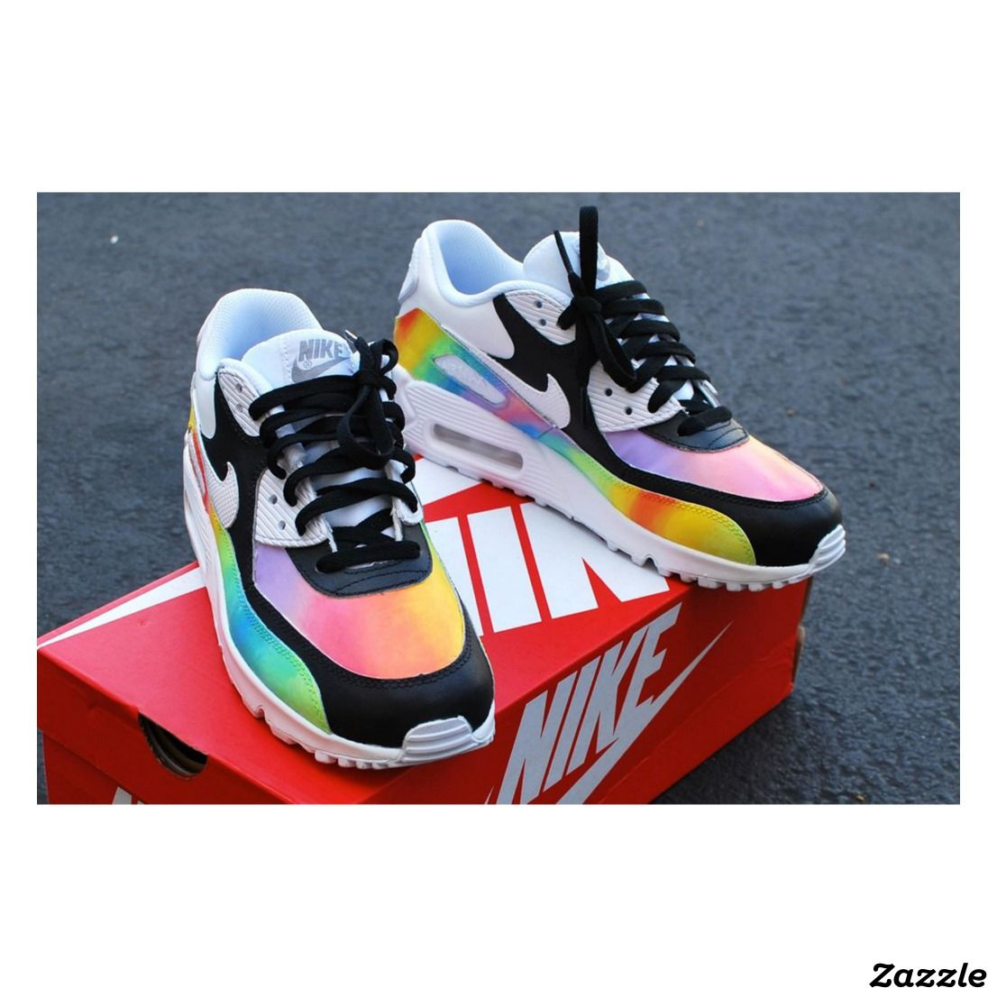 Custom Hand-Painted Color Blast Nike Air Max 90,Made for you by B
