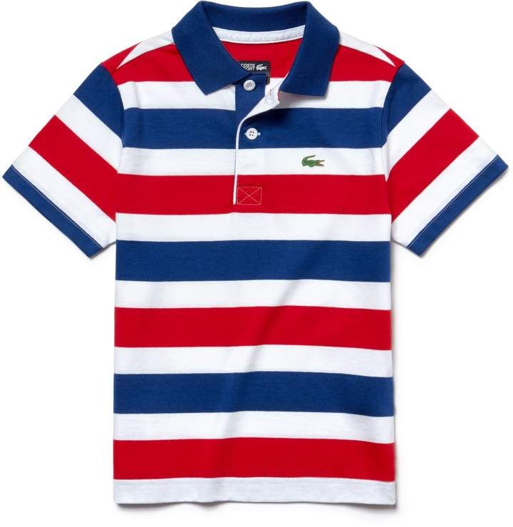 0dcf4bf63d Boys' SPORT Striped Cotton Tennis Polo in 2019 | Products | Polo ...