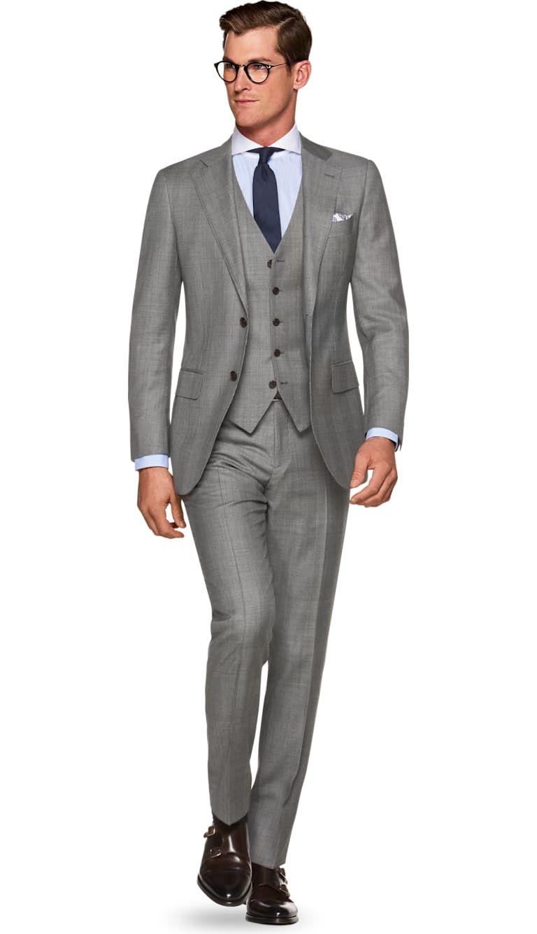 Onwijs Costume Gris Carreaux Lazio P5445   Suitsupply Online Store SL-43