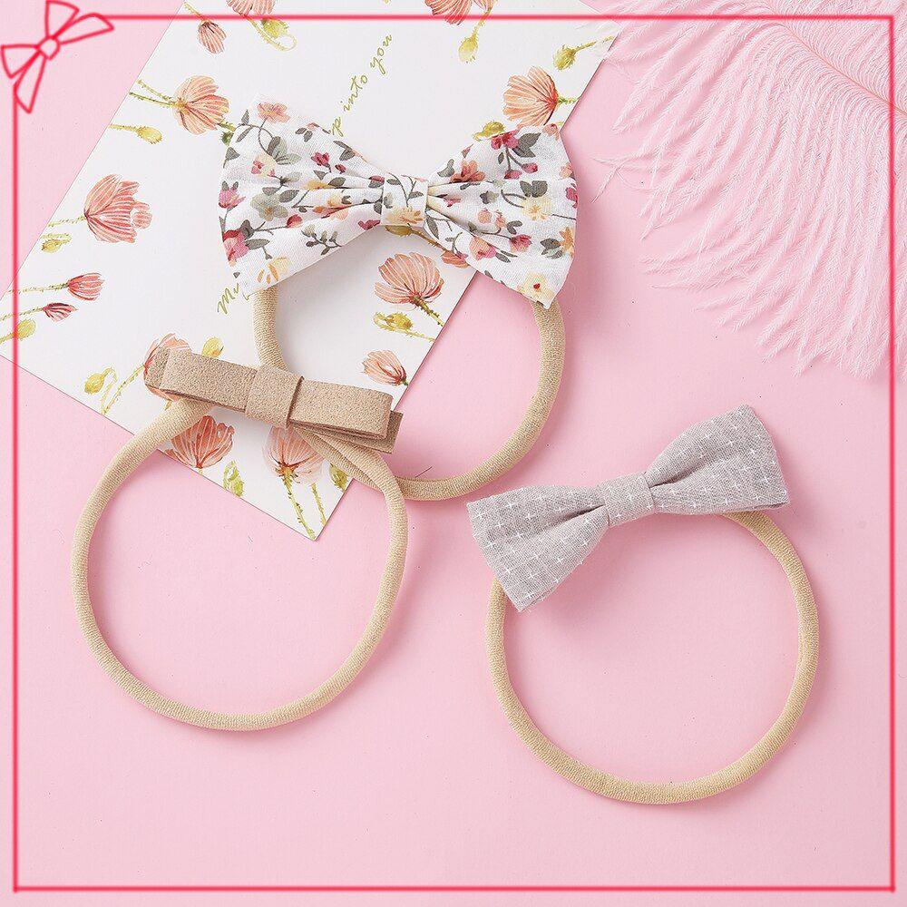 10Pcs Solid Nylon Elastic Headband Baby Girls Women Kids Hairband Accessories