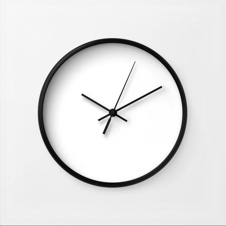 Hickok Wall Clock Minimalist Modern Black White Clock White Clocks Clock Modern Minimalist