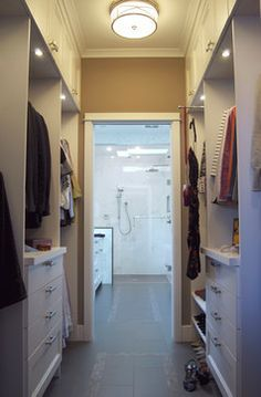 walk thru closet to bathroom google search - Bathroom Closet Design