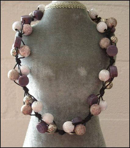 DIY Necklace Purple