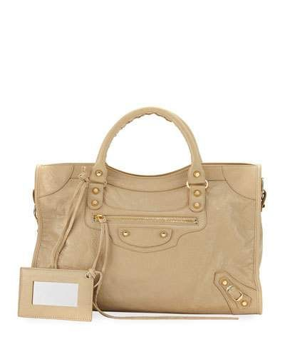 571e2276909 BALENCIAGA CLASSIC CITY GOLDEN LAMBSKIN TOTE BAG, BEIGE SABLE. #balenciaga # bags #shoulder bags #hand bags #leather #tote #cotton #