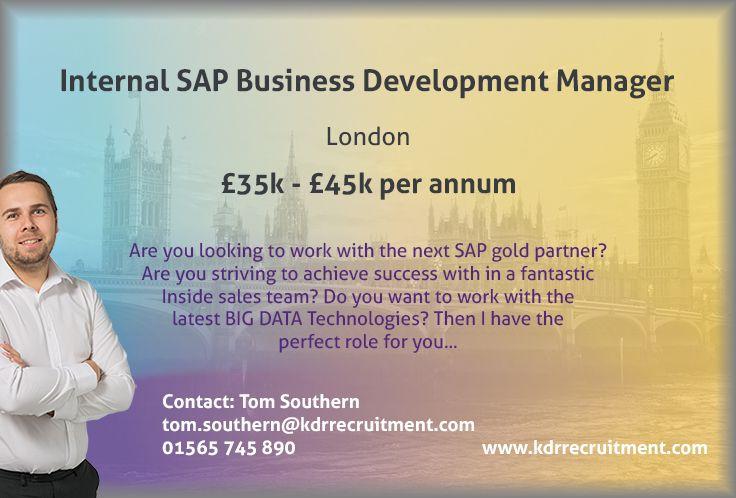 New Job Internal SAP Business Development Manager needed