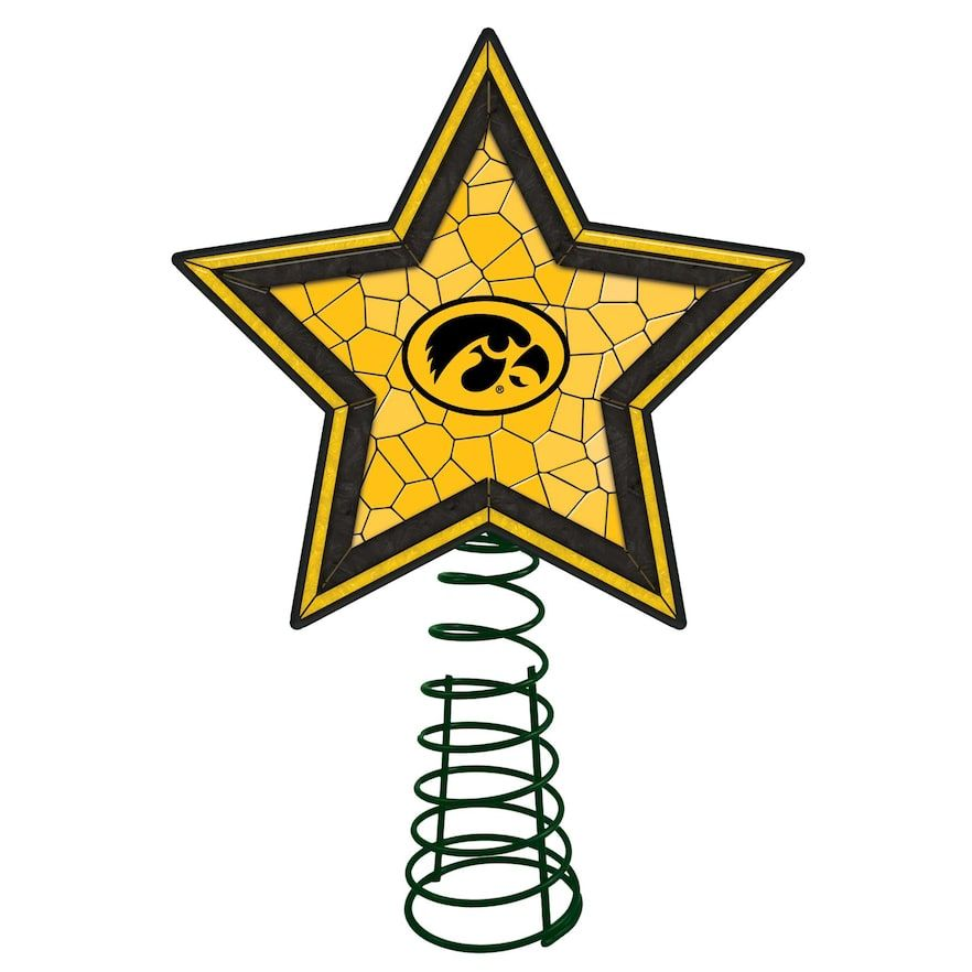 NCAA Iowa Hawkeyes Mosaic Christmas Tree Topper Products