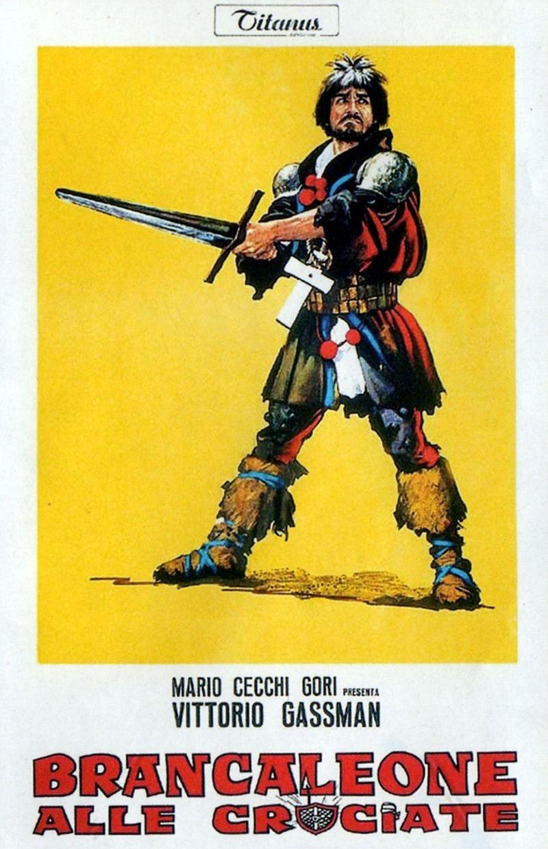 Brancaleone Alle Crociate 1968 Regia Mario Monicelli Con Vittorio Gassman P Villaggio Gigi Proietti A Celi Stefa Crociate Arte Del Cinema Vecchi Film