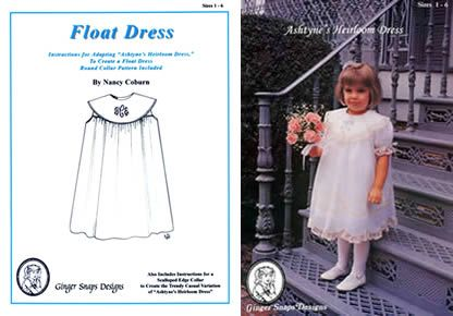 Ginger Snaps Patterns - Ashtyne\'s Heirloom Dress | Sewing tutorials ...