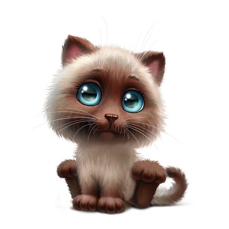Анимированная, картинки про котят смешные нарисованные