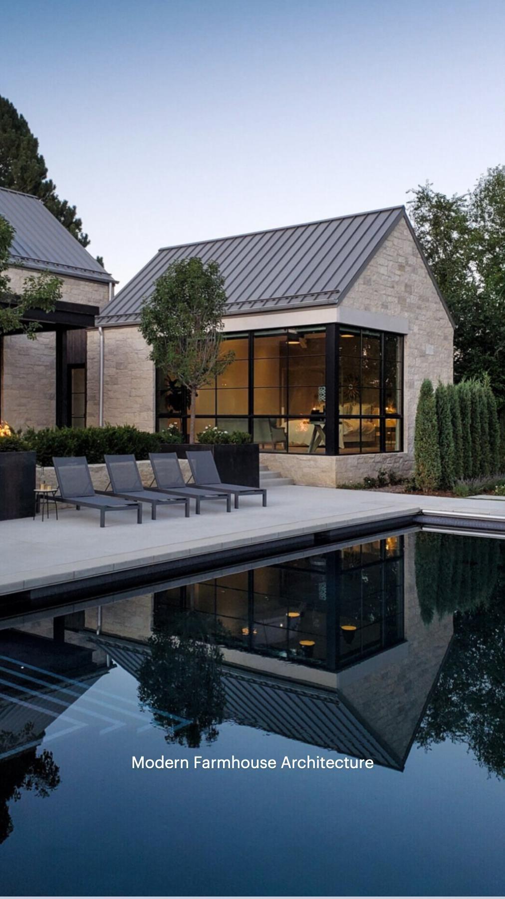 Modernes Traumhaus mit Flachdach Architektur im Bauhausstil - Haus Design Ideen innen aussen modern