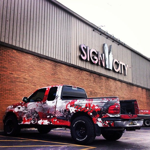Vinyl Wrapped Ford F150 Sick Vehicle Wrap Car Wrap Design Car Wrap Car Lettering