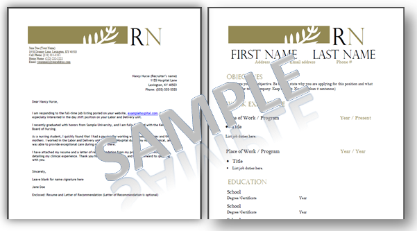 Great Resume Templates For Nurses By RegisterednursernCom