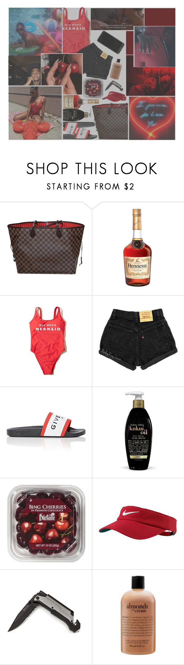 """x,o--feelings the same. cant to stay to far..to far apart."" by badquality-nudes ❤ liked on Polyvore featuring Louis Vuitton, Hollister Co., Givenchy, NIKE and philosophy"