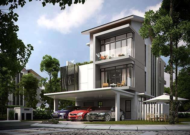 Sejati residences 3 storey bungalow bungalow house cyberjaya selangor malaysia