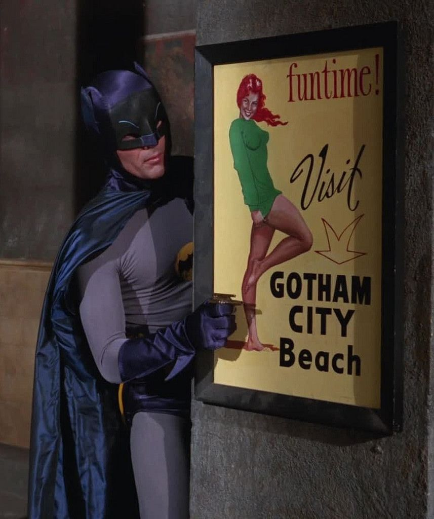 Visit Gotham City Beach (does that count as a drawn pin-up ?)