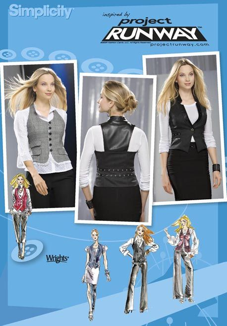 Simplicity 2556 Misses Vests with Separate Patterns for B,C,D Cups ...