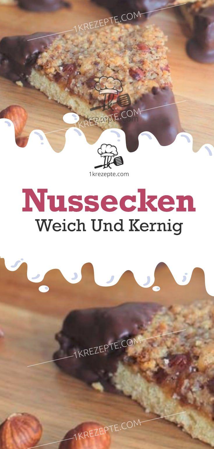 Nussecken – weich und kernig #nusseckenrezept