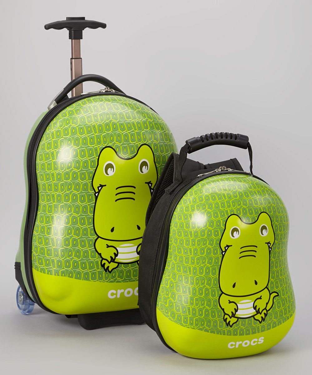 Take a look at this Crocs Green Wheeled Carry-On & Backpack on zulily today!  $99.99