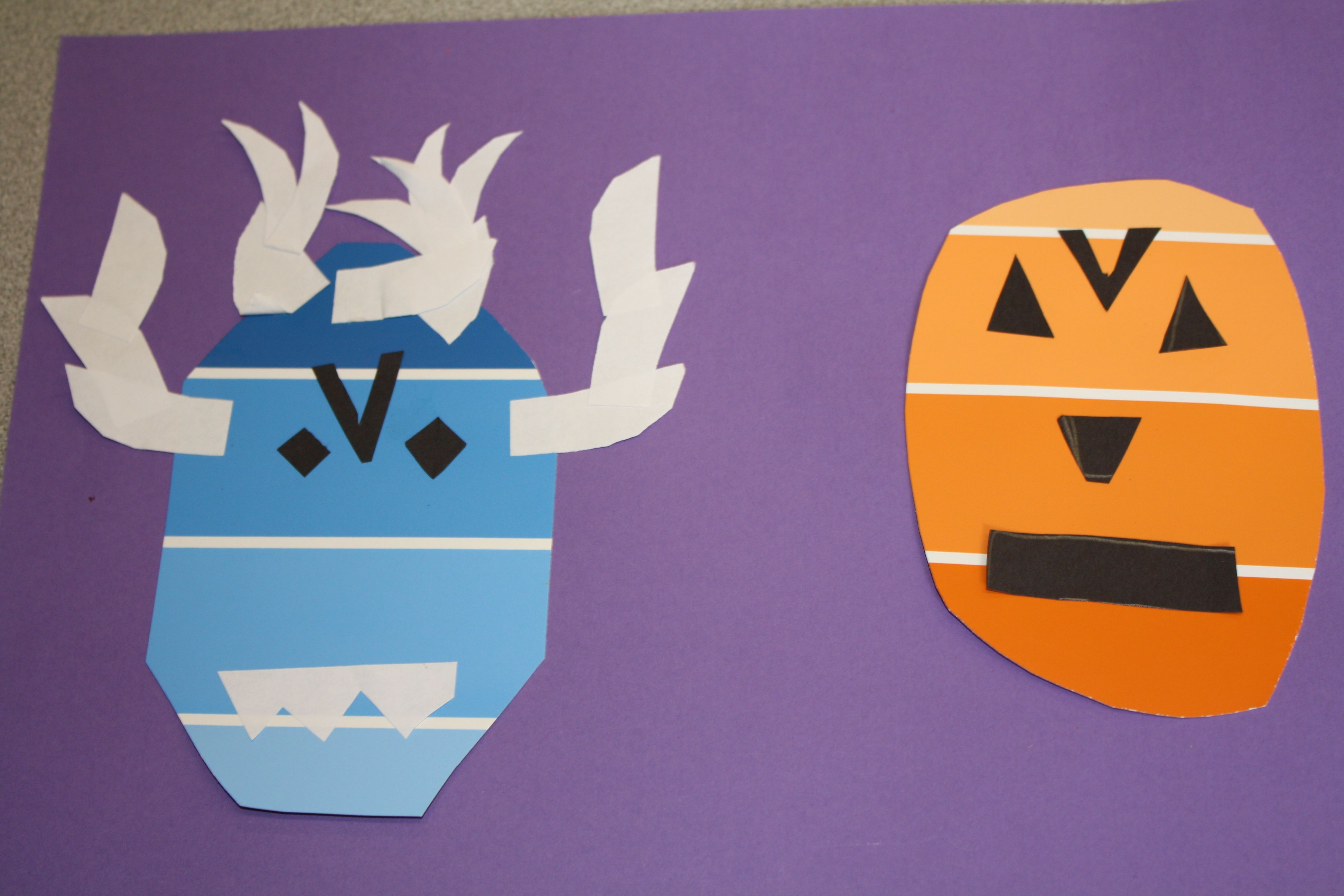 PAINT CHIP MONSTERS- 4th grade