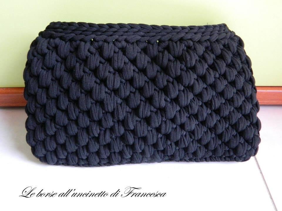 Pochette In Fettuccia Nera Pochette Fettuccia Crochet E Bags