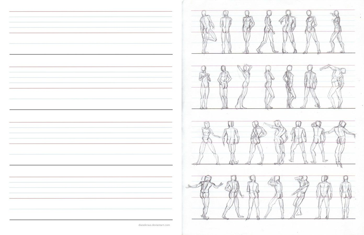Figure Proportions Practice Sheets By Dianekraus