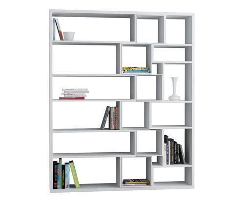 #Libreria in nobilitato roscoe bianco - colore Bianco  ad Euro 399.00 in #Homemania srl #Furniture storage furniture