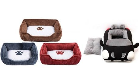 Corduroy Pet Bed (AED 129) or CarShaped Pet Bed (AED 149