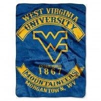 """WVU West Virginia Mountaineers """"Rebel"""" Raschel Throw"""
