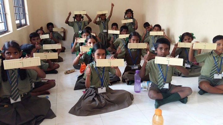 Indian abacus students