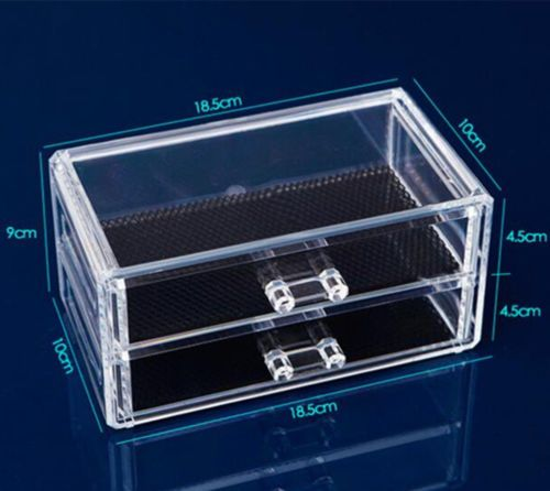 Makeup Cosmetics Jewelry Organizer Clear Acrylic Drawers Display Box