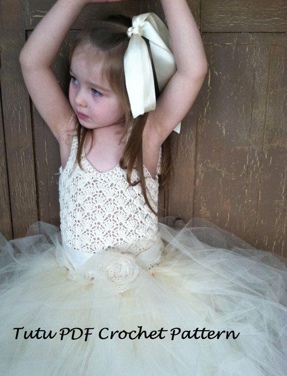 INSTANT DOWNLOAD The Emma - Girls Crochet Tutu Dress PDF Pattern via Etsy