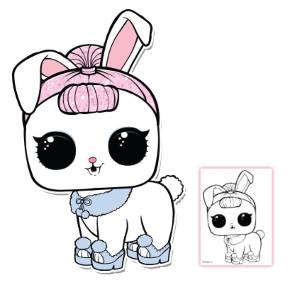 Crystal bunny coloring page pet crystal bunny color