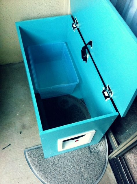 DIY Container For Getting The Litter Box Outside.