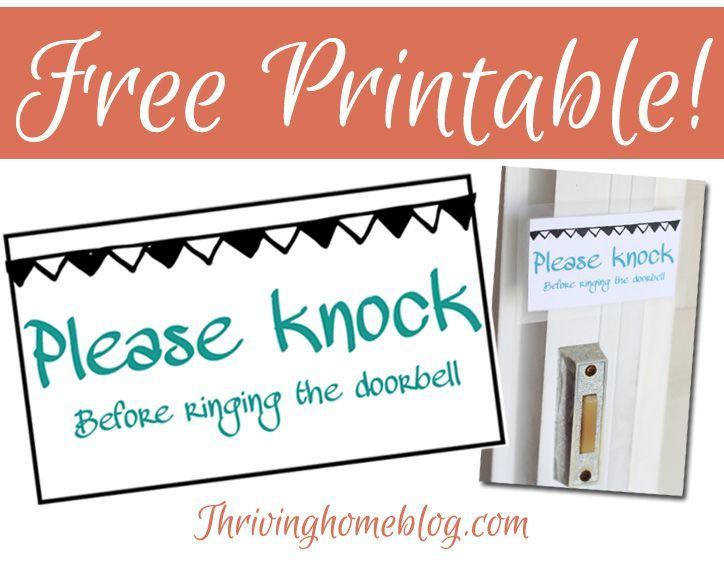 image relating to Please Knock Sign Printable named Absolutely free printable: Remember to knock indication in direction of move around your doorbell
